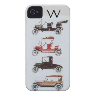 VINTAGE CARS  MONOGRAM Case-Mate iPhone 4 CASE