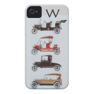 VINTAGE CARS  MONOGRAM iPhone 4 Case-Mate CASES