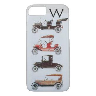 VINTAGE CARS  MONOGRAM iPhone 8/7 CASE