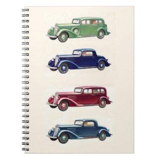 Vintage cars notebook