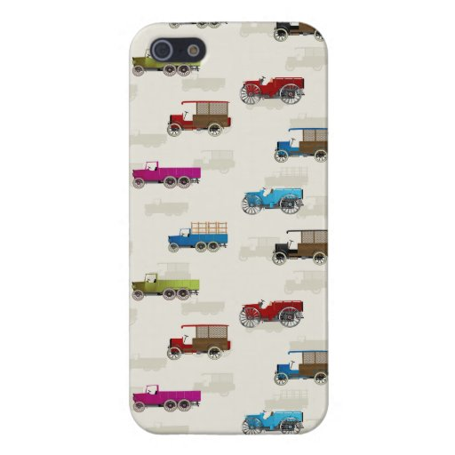 Vintage cars pattern covers for iPhone 5