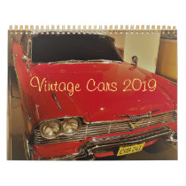 Vintage Cars photo calendar 2019
