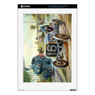 Vintage Cars Racing Scene,train painting Decals For PS3 Console