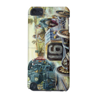 Vintage Cars Racing Scene,train painting iPod Touch (5th Generation) Cases