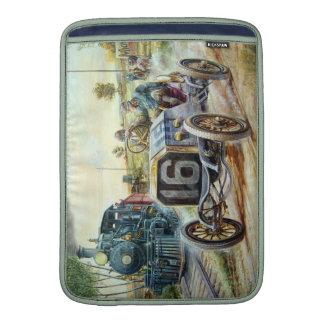Vintage Cars Racing Scene,train painting MacBook Sleeves
