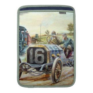 Vintage Cars Racing Scene,train painting Sleeves For MacBook Air