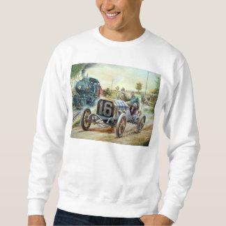 Vintage Cars Racing Scene,train painting Sweatshirt
