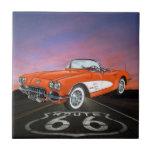 Vintage Cars - Route 66 - SRF Tile
