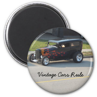 Vintage Cars Rule 2 Inch Round Magnet