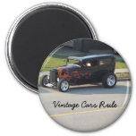 Vintage Cars Rule Fridge Magnets