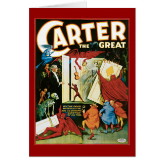 Vintage Carter the Great, Do the Dead materalize? Greeting Card