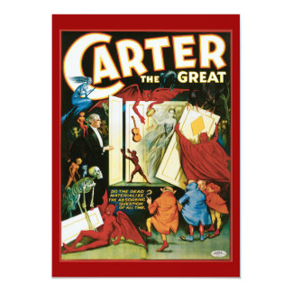 """Vintage Carter the Great, Do the Dead materalize? 5"""" X 7"""" Invitation Card"""