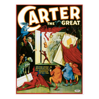 Vintage Carter the Great, Do the Dead materalize? Postcard