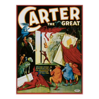 Vintage Carter the Great, Do the Dead materalize? Print