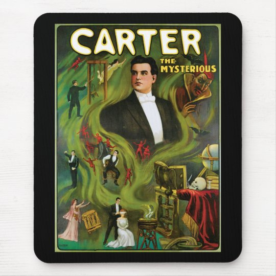Vintage Carter the Mysterious Magic Poster Mouse Pad