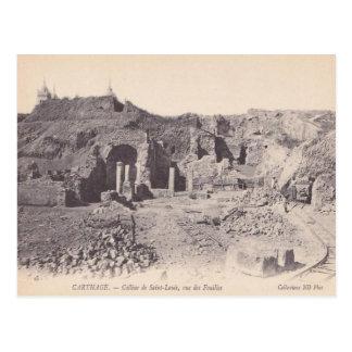 Vintage  Carthage, Roman remains, Hill of St Louis Postcard