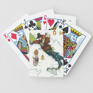 Vintage Cartoon Map of Italy Poker Cards