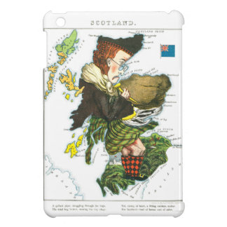 Vintage Cartoon Map of Scotland Cover For The iPad Mini