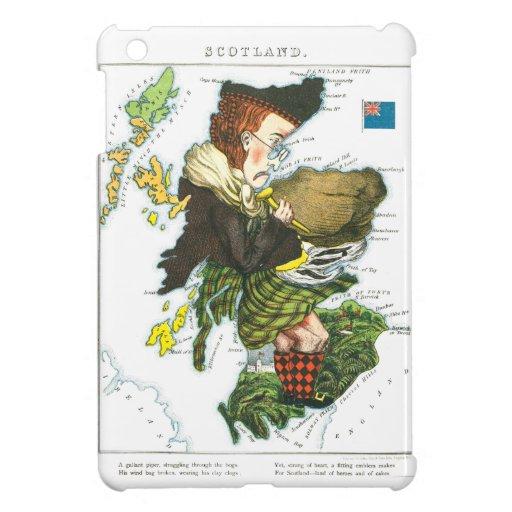 Vintage Cartoon Map of Scotland Case For The iPad Mini
