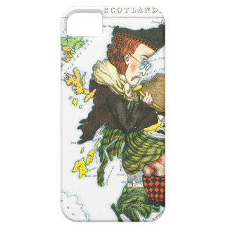 Vintage Cartoon Map of Scotland iPhone SE/5/5s Case
