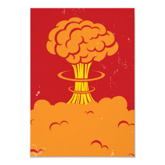Vintage Cartoon Mushroom Cloud Card