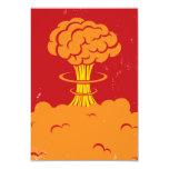 Vintage Cartoon Mushroom Cloud 3.5x5 Paper Invitation Card