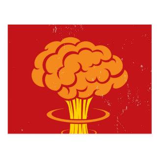Vintage Cartoon Mushroom Cloud Postcard
