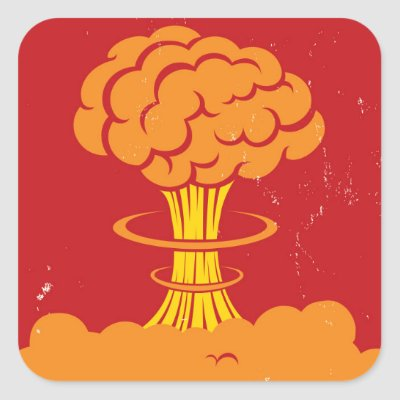 orange atomic nuclear explosion mushroom cloud square sticker rh zazzle com cartoon style mushroom cloud dialog vector cartoon style mushroom cloud dialog vector