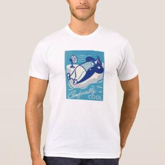 Vintage Cartoon Penguin Ad Comfortably Cool Shirt