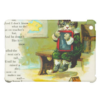 Vintage Cartoon Tabby Cat In Detention  Cover For The iPad Mini