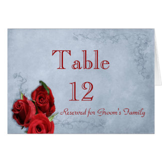 Vintage Cascade Blue Table Number Stationery Note Card