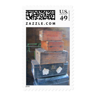 Vintage Cases and Boxes Postage Stamp