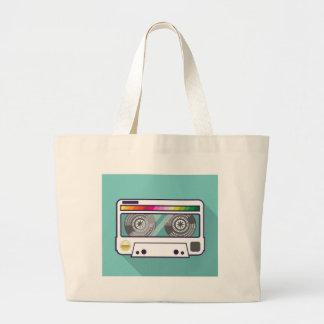 Vintage Cassette Large Tote Bag