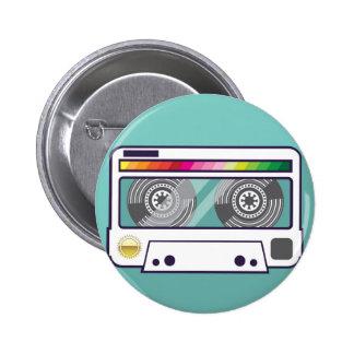 Vintage Cassette Pinback Button