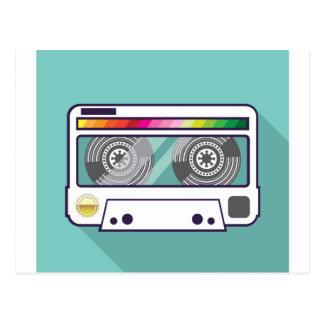 Vintage Cassette Postcard