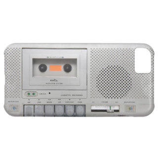 Vintage Cassette Recorder Cover For iPhone 5C