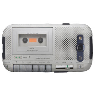 Vintage Cassette Recorder Galaxy SIII Cases