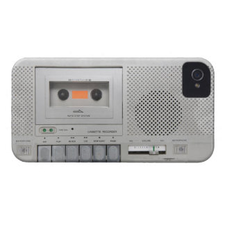 Vintage Cassette Recorder iPhone 4 Case-Mate Case