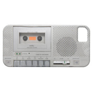 Vintage Cassette Recorder iPhone 5 Cover