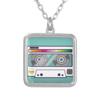 Vintage Cassette Silver Plated Necklace