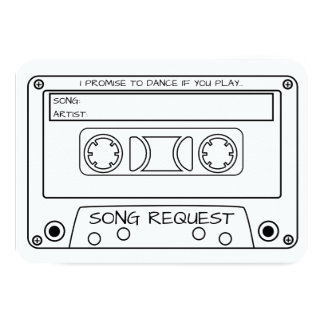 Vintage Cette Tape Wedding Song Request Card