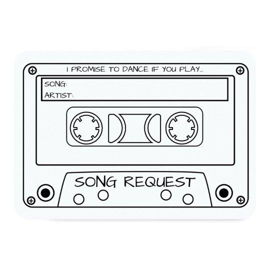 Vintage Cassette Tape Wedding Song Request Card Zazzle Com
