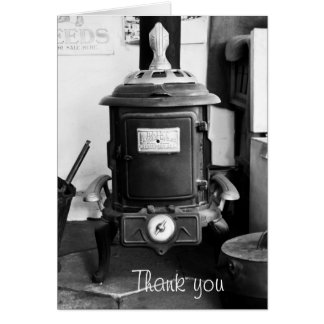 Vintage Cast Iron Stove Card