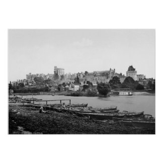 Vintage castillo de Inglaterra, Windsor, Berkshire Posters