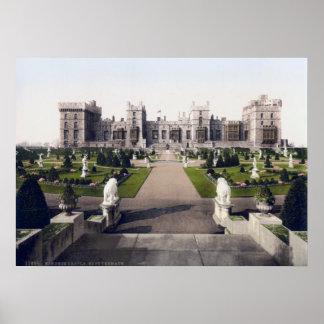 Vintage castillo real de Inglaterra, Windsor Póster