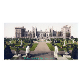 Vintage castillo real de Inglaterra, Windsor Tarjeta Fotografica Personalizada