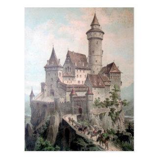 Vintage - castillo viejo hermoso postales