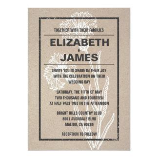 Vintage Casual Wedding Invitations