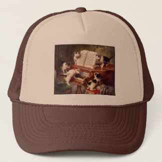 Vintage Cat Art:  Kittens' Recital Trucker Hat