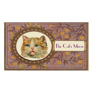 Vintage Cat Business Card